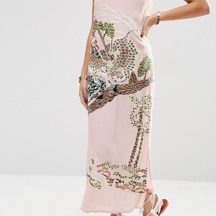 Asos PREMIUM Ocelot Slip Dress £85