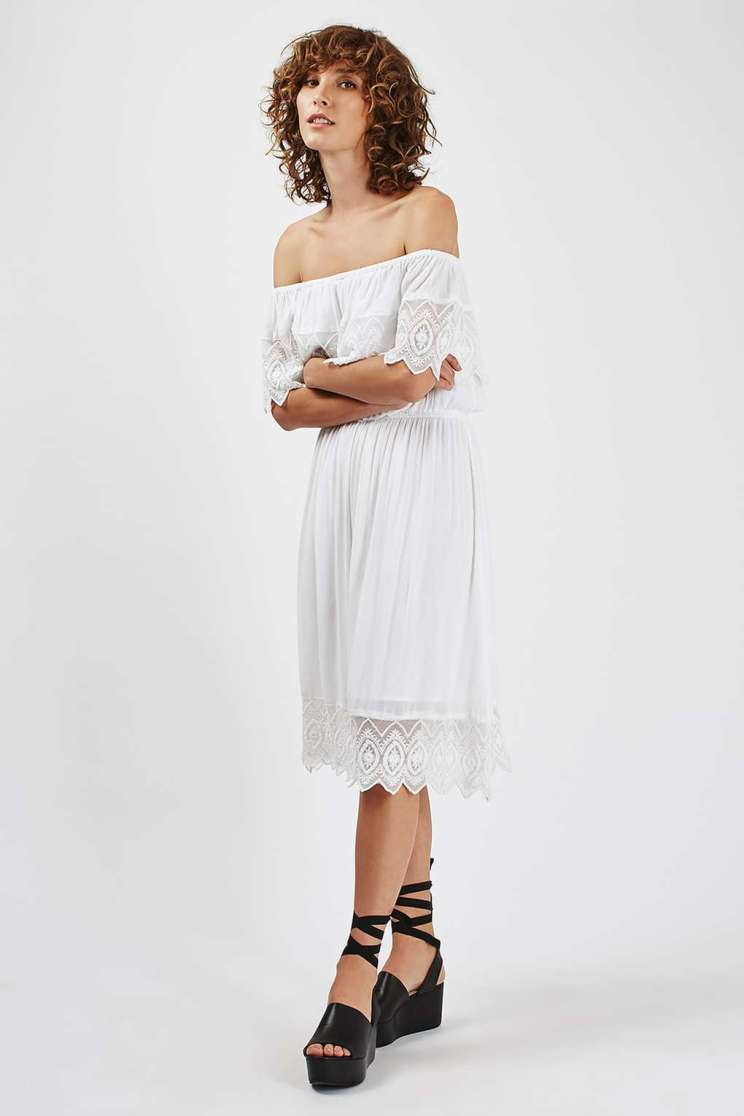 Asos Embroidered Barbot Midi Dress £38