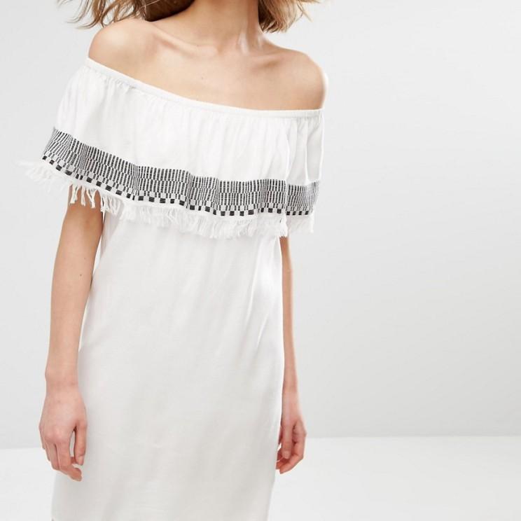 First & I Tassle Trim Bardot Dress £20