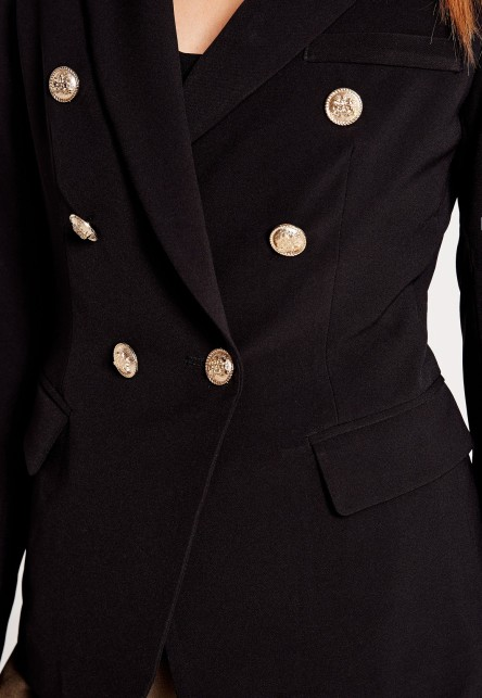 missguided military style blazer 2