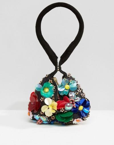 3D flower pouch bag