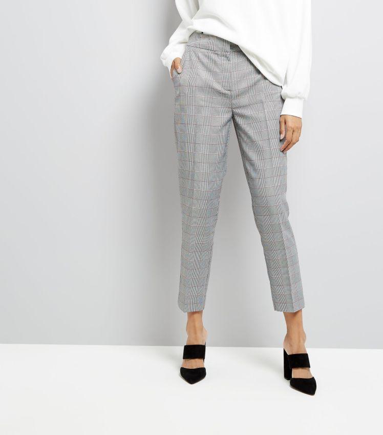 black-check-slim-leg-cropped-trousers