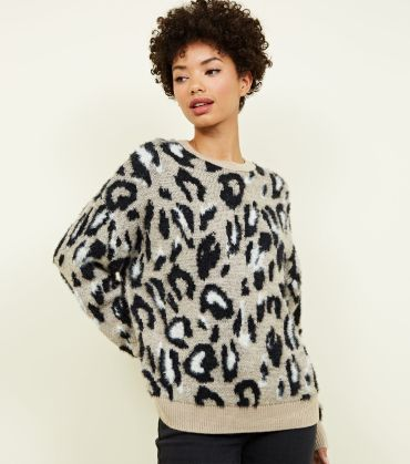 brown-fluffy-leopard-print-jumper
