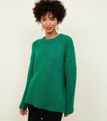 green-chunky-knit-slouchy-jumper